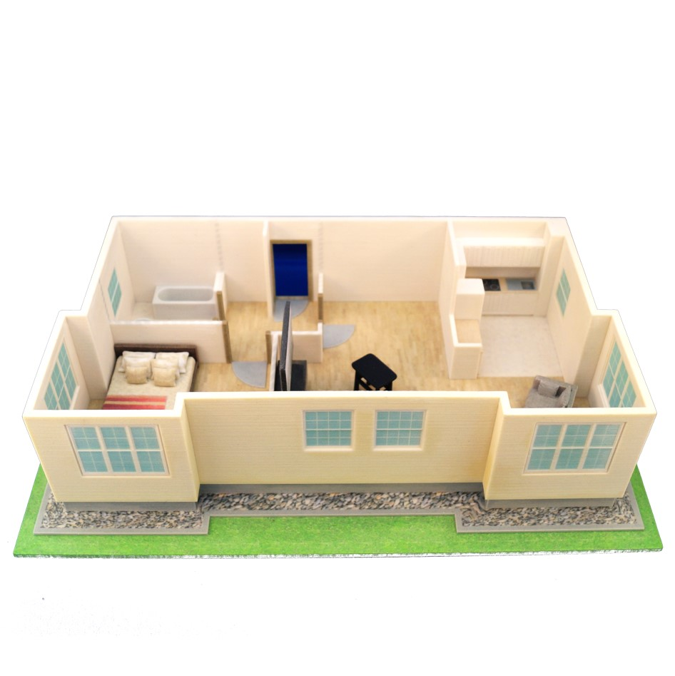 3D printed architecture model Interior model