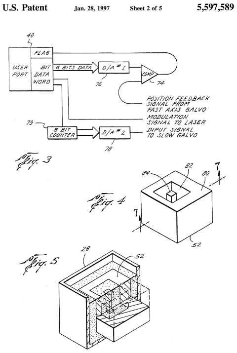 SLS Lasersintering patent application 1997
