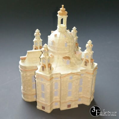 Colorjet 3D printed architecture model womans church Dresden