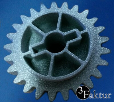 Gear wheel in laser sintered Alumide